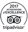 Certificat d'excellence Tripadvisor 2017