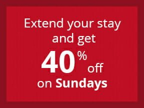 40% off on Sundays