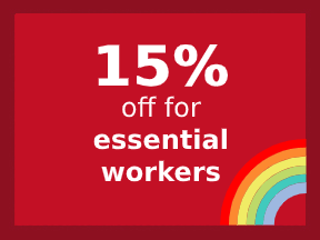 15% off for essential workers